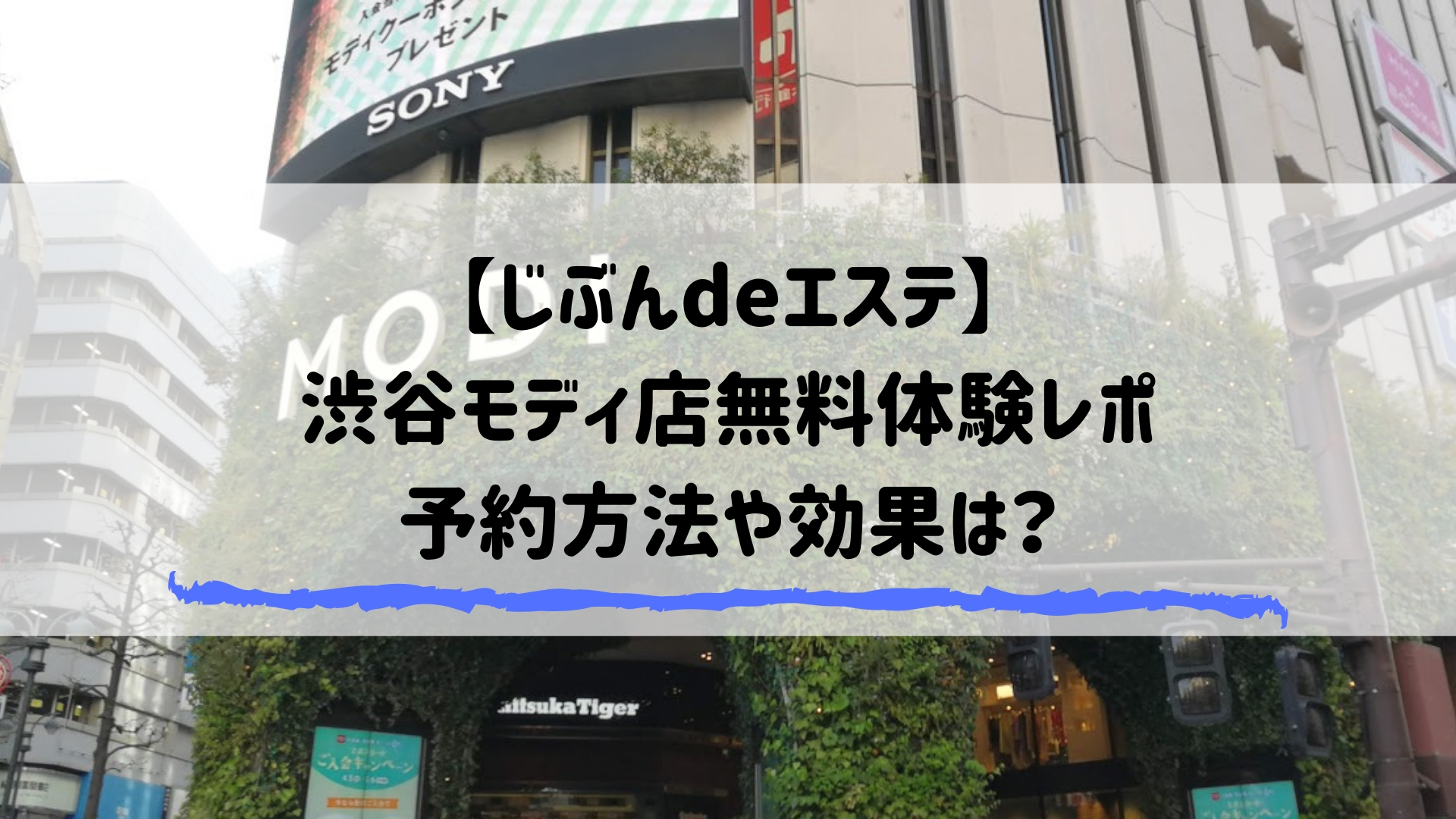 【じぶんdeエステ】 渋谷モディ店無料体験レポ 予約方法や効果は?
